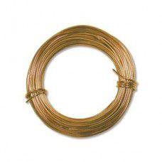 Gold colour Aluminium Wire 18ga (1.2mm)  39ft