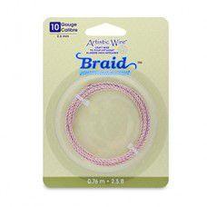 10 Gauge (2.6 mm), Round Braid, Rose Gold Color, 2.5 ft (.76 m)