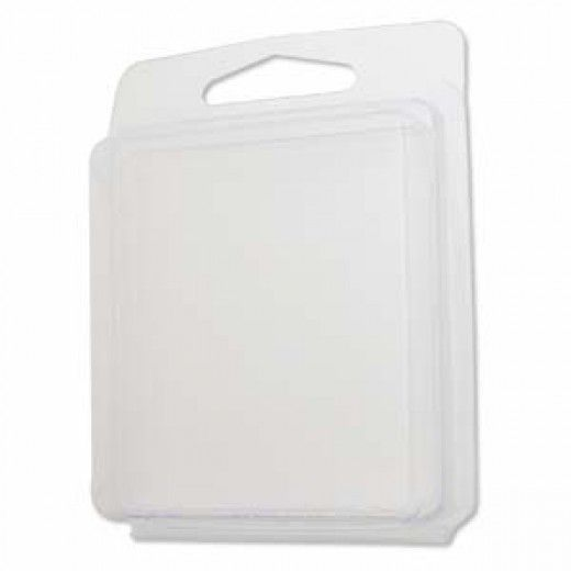 Clamshell with Hanging Slot, 2.55 x 0.5 x 2 inches, pack of 10